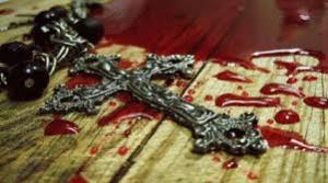 blood of martyr on Cross