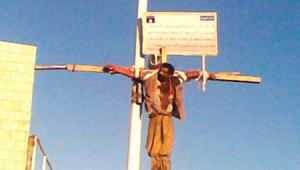 crucifying a christian by ISIS